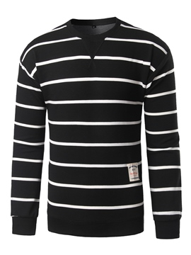 Ericdress Stripe V-Neck Men's Pullover Sweater