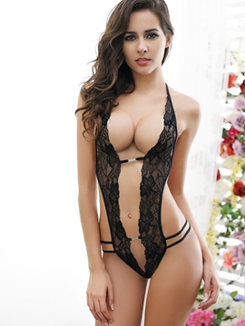 Ericdress Sexy Halter See-Through Lace Teddy
