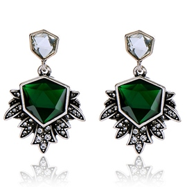 Ericdress Exaggerated Irregular Emerald Earrings