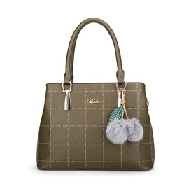 Ericdress Stylish Plaid Thread PU Handbag