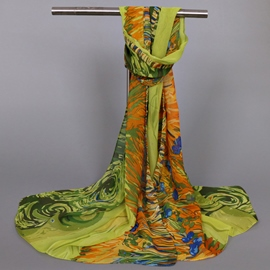 Ericdress Abstract Printed Thin Chiffon Scarf