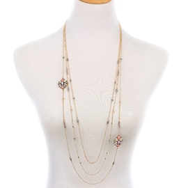 Ericdress Multilayer Simple Flowers Design Necklace