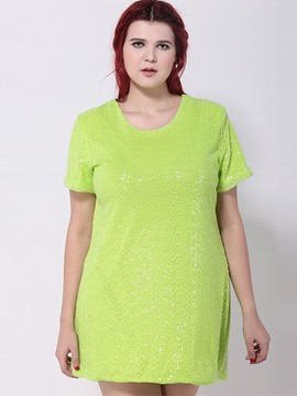Ericdress Plus Size Mid-Length T-Shirt