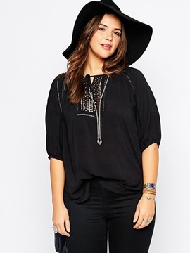 Ericdress Plus Size Half Sleeve T-Shirt
