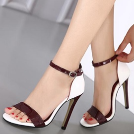 Ericdress All Match PU Ankle Strap Stiletto Sandals