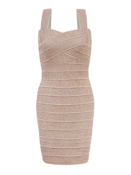 Ericdress Plain Spaghetti Strap Bodycon Dress