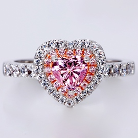 Ericdress Heart-Shaped Imitation Diamond Ring for Wedding