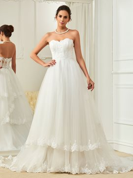 Ericdress Charming Appliques Sweetheart A Line Wedding Dress
