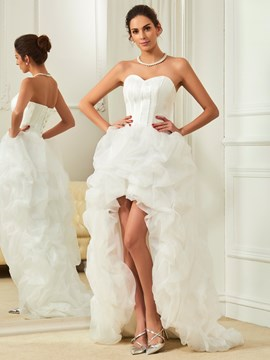 Ericdress Beautiful Sweetheart Asymmetry Summer Beach Wedding Dress