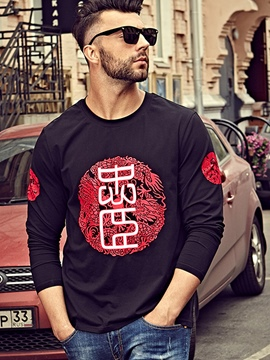 Ericdress Street Style Plus Size Print Men's T-Shirt
