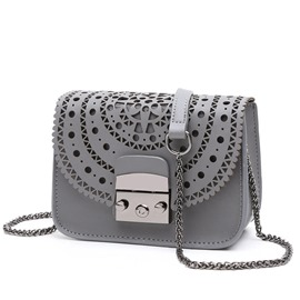 Ericdress Celebrity Hollow PU Crossbody Bag