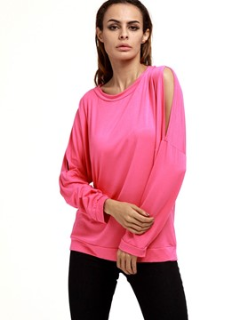 Ericdress Split Sleeve Plain T-Shirt