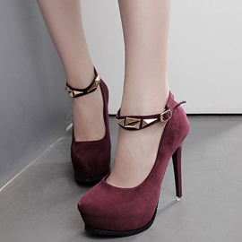 Ericdress OL Suede Platform Ankle Strap Prom Shoes