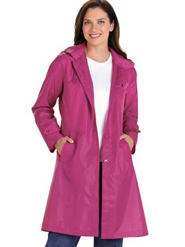 Ericdress Solid Color Single-Breasted Casual Trench Coat