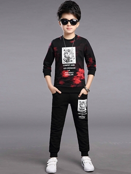 Ericdress Animal Print Long Sleeve Boys Outfit