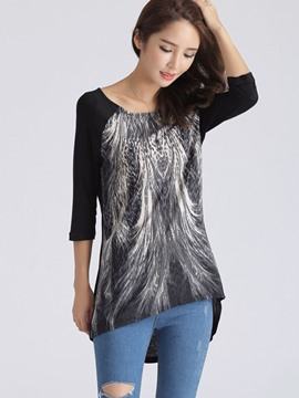 Ericdress Half Sleeve Printed T-Shirt