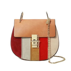 Ericdress Vogue Patchwork Nubuck Leather Crossbody Bag
