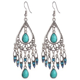 Ericdress Bohemian Water Drop Tassels Earrings