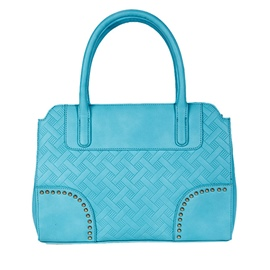 Ericdress Versatile Blue Rivets Embossed Handbag