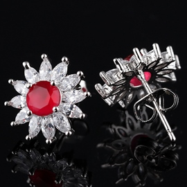 Ericdress Exquisite Micro Inlaid Zircon Stud Earrings