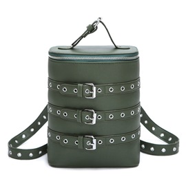 Ericdress Cool Belt Decorated Cylinder Backpack