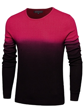 Ericdress Gradient Pullover Slim Men's Sweater
