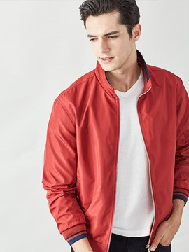 Ericdress Solid Color Thin Casual Men's Jacket