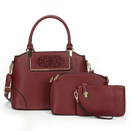 Ericdress Simple Solid Color Hollow Handbags(3 Bags)
