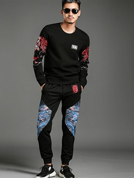 Ericdress Two-Piece of Vogue Embroidery Pullover Casual Men's Suit