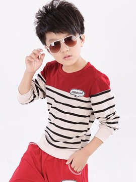 Ericdress Stripe Color Block Spring Boys Outfit