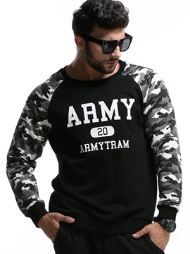 Ericdress Camouflage Patchwork Pullover Plus Size Casual Men's Hoodie