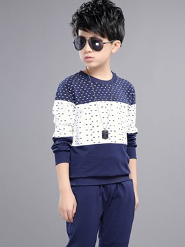 Ericdress Polka Dots Long Sleeve Boys Outfit