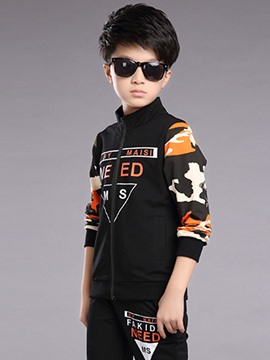 Ericdress Camouflage Letter 2-Pcs Spring Boys Outfit