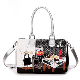 Ericdress Celebrity Cartoon Embroidery Boston Handbag