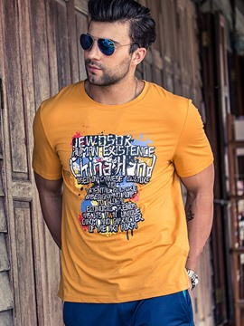 Ericdress Plus Size Short Sleeve Print Men's T-Shirt