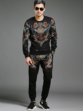 Ericdress Vogue Unique Print Two-Piece of Men's Casual Suit