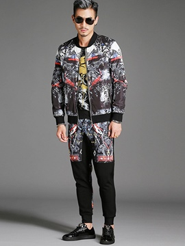 Ericdress Two-Piece of Print Casual Men's Suit