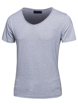 Ericdress Short Sleeve Solid Color Simple Casual Men's T-Shirt