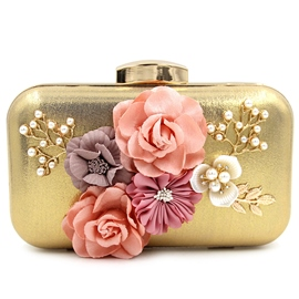 Ericdress Upscale Pearl Floral Evening Clutch