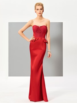 Ericdress Sexy Sheath Sweetheart Slit Back Floor Length Evening Dress