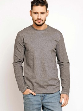 Ericdress Plain Round Neck Casual Men's T-Shirt