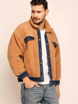 Ericdress Color Block Patchwork Worm Vogue Men's Jacket