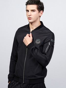 Ericdress Zip Sleeve Pocket Vogue Men's Jacket