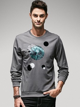 Ericdress Color Block Print Long Sleeve Men's T-Shirt