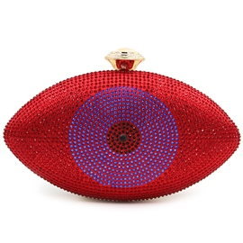 Ericdress Upscale Eye Shape Rhinestone Evening Clutch