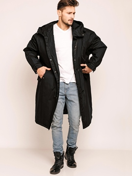 Ericdress Plain Hooded Warm Vogue Loose Men's Coat
