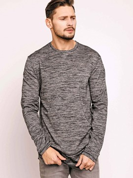 Ericdress Round Neck Pullover Loose Long Sleeve Men's T-Shirt