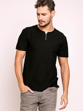 Ericdress Plain Slim Short Sleeve Men's T-Shirt
