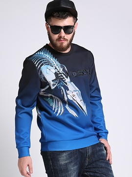 Ericdress Gradient Plus Size Print Men's Hoodie