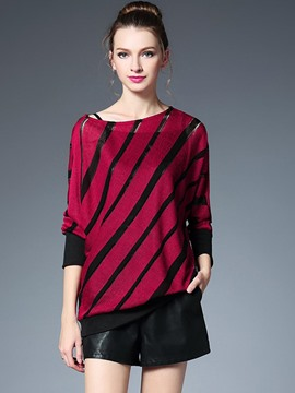 Ericdress Oblique Stripe Stylish T-Shirt